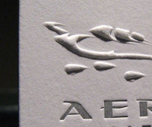 Aeris Aviation's Letterpress Business Card