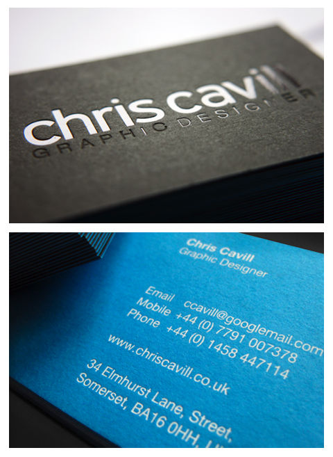 Chris Cavil's Minimalist Business Card
