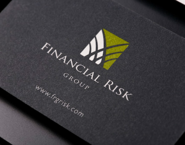 Financial Risk Group's Minimalist Business Card