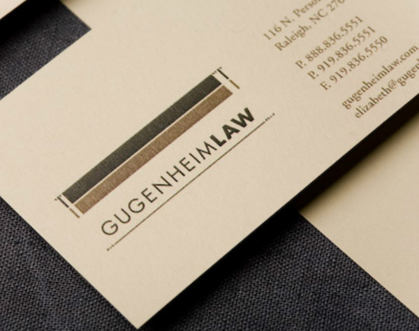 Gugenheim Law's Simple Business Card