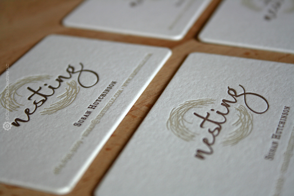 Nesting LLC's Letter Pressed Business Card