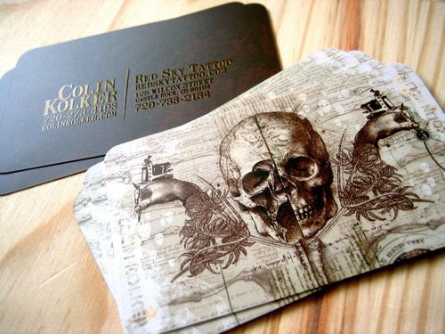 Red Sky Tattoo's Cool Business Card