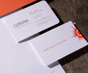CoronaInsight's Simple Business Card