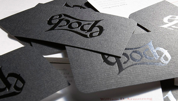 Epoch Wines Simple Black Business Card