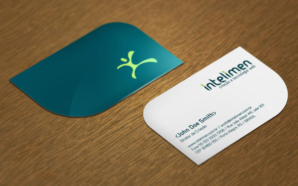 Intelimen's Business Card Designed by Pedro Kummel