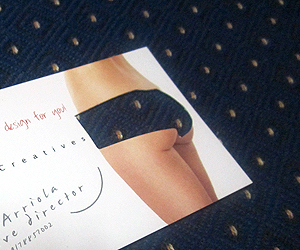 Nel I. Arriola Uniquely Cheeky Business Card