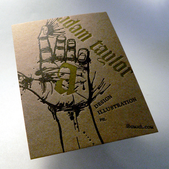Adam Taylor's Letterpress Business Card