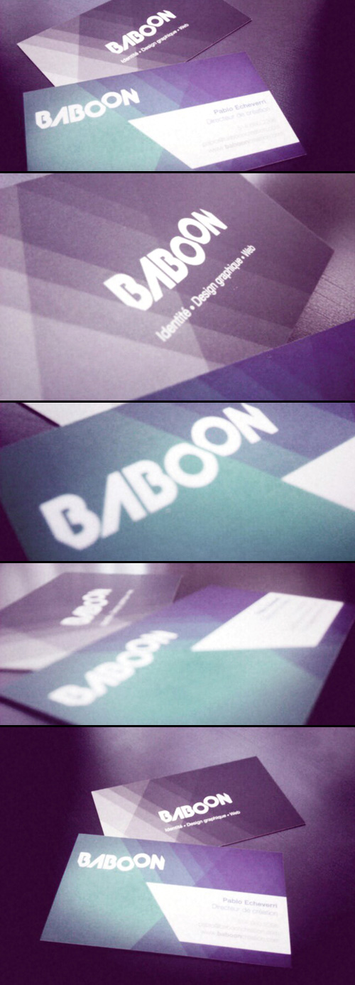 Baboon Business Card By Pablo Echeverri