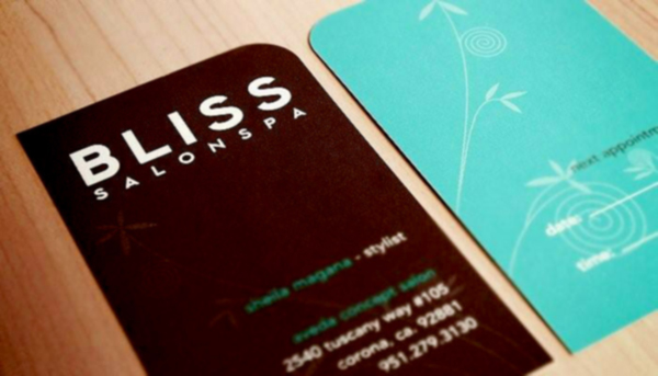 Bliss Salon & Spa's Appointment Business Card