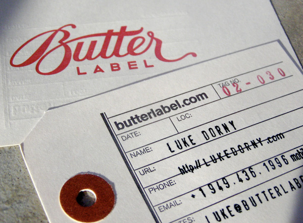 Butter Label's Unique Business Card