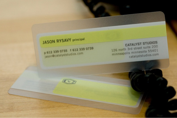 Catalyst Studios Plastic Business Card