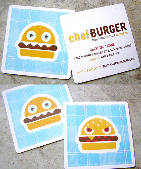 A Cute Burger Business Card By Design Ranch