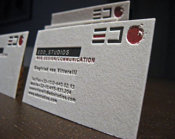 Edo Studio's Letterpress Business Card