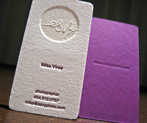 A Textured Business Card for Esvy graphy