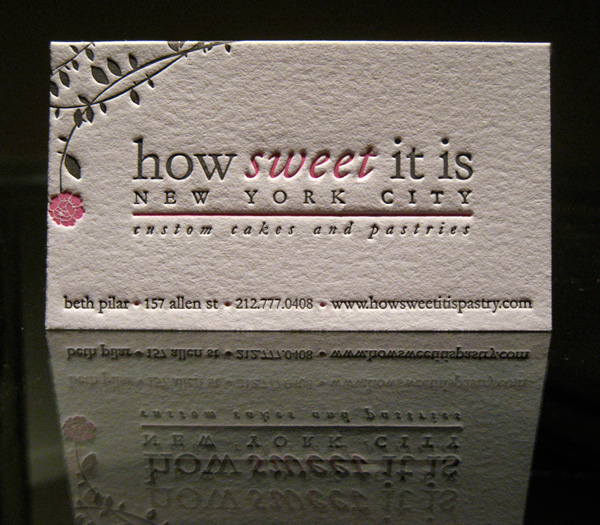 How Sweet It Is Pastry's Letterpress Card