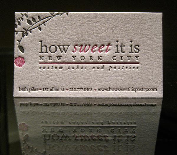 How Sweet It Is Pastry's Letterpress Card