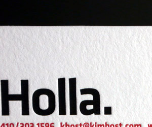 Kim Bost's Fill in the Blank Business Card
