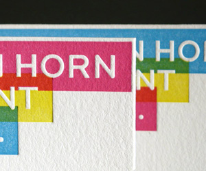 Kyle Van Horn's Letterpress Business Card