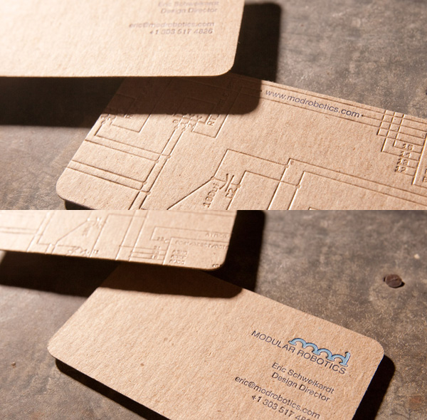 Mod Robotics' Letterpress Business Card