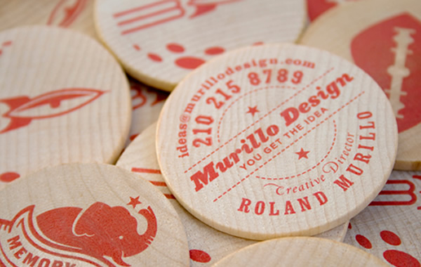 Murillo Design's Wooden Business Card