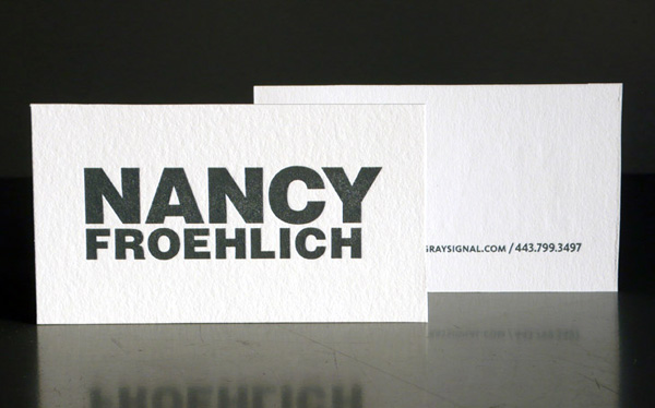 Gray Signal's Letterpress Business Card
