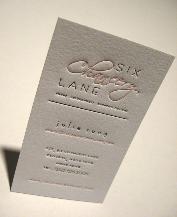 Six Chancery Lane's Letterpress Card