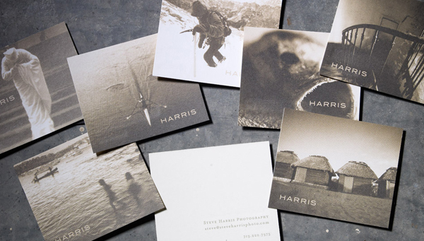 Photography Samples as Business Cards by Steve Harris