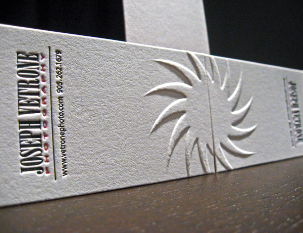 Joseph Vetrone's Letterpress Business Card