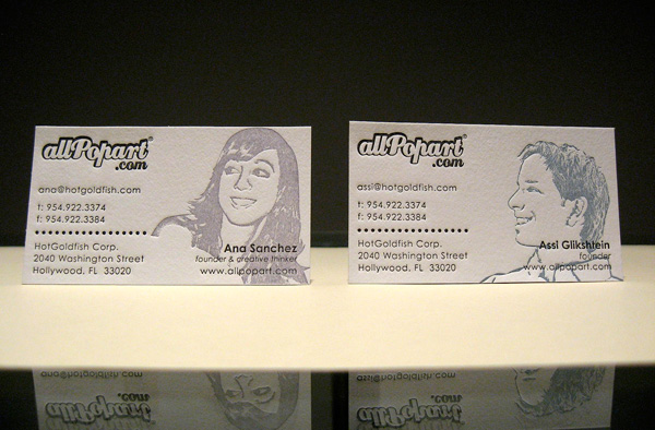 AllPopArt's Letterpress Business Cards