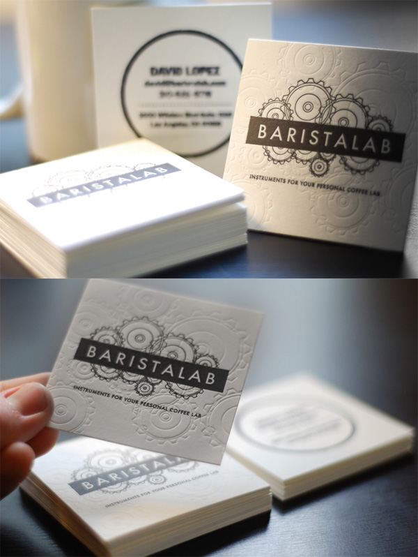 Barista Lab Letterpress Business Card