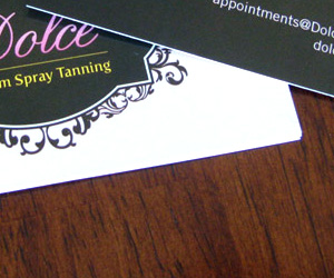 Dolce Custom Spray Tanning Business Card