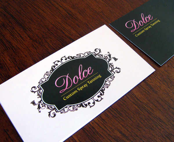 Post image for Dolce Custom Spray Tanning Business Card