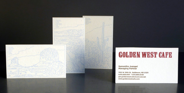 Golden West Cafe's Paint by Numbers Business Card