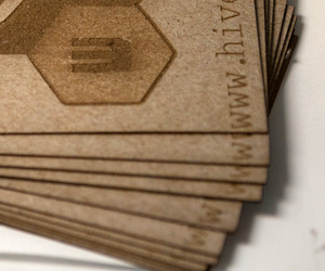 Hive13's Laser Engraved Business Card