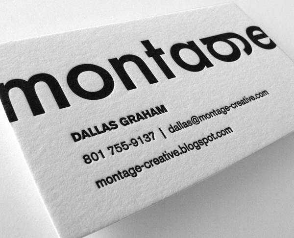 Montage Minimalist LetterPress Business Card