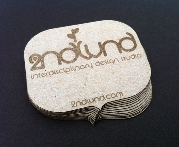 2ndWind Design Studio Laser Cut Business Card