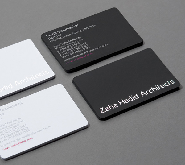 Zaha Hadid Architects Minimalist Business Cards