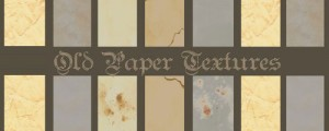 6 Old Paper Textures 300x120 Love for Vintage