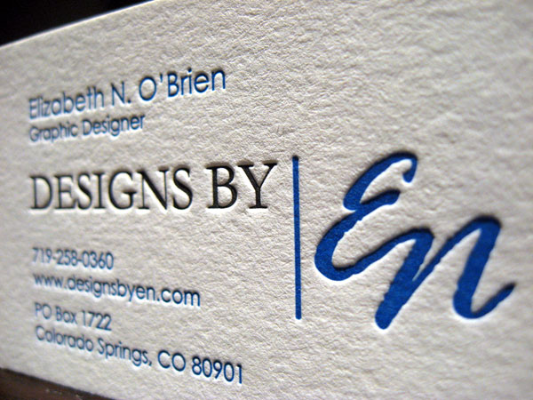 Designs By Elizabeth O'Brien Simple Business Card
