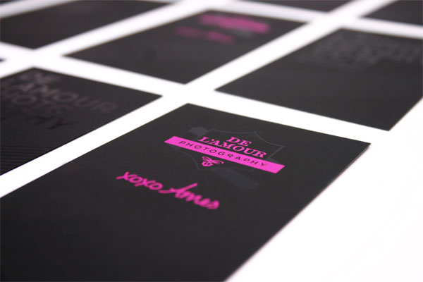 De'Lamour Photography Minimalist Business Card