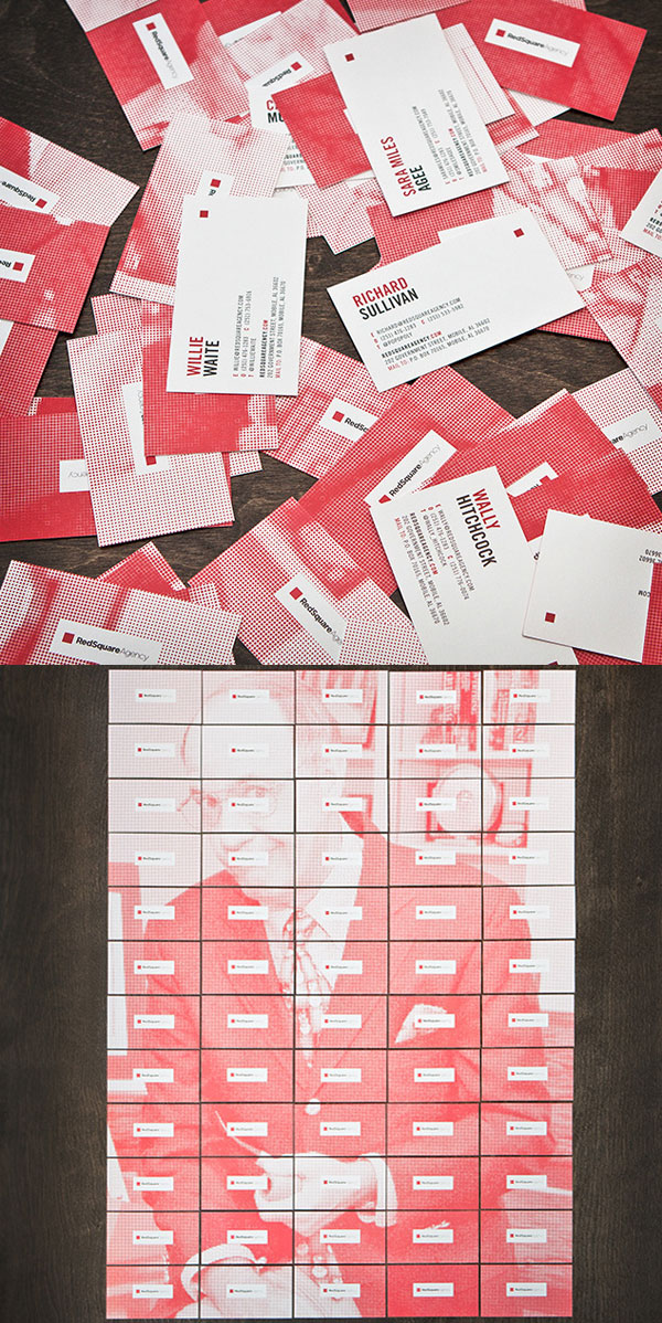 Red Square Agency Business Cards