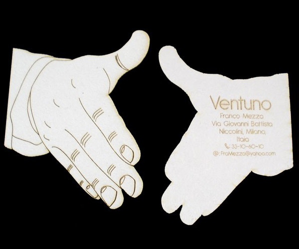 Ventuno's Custom Laser Cut Business Card