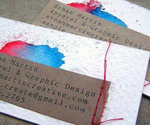 Ethan Martin Creative's Unique Business Card