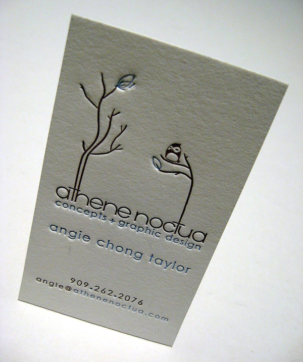 Athene Noctua's Cute Business Card