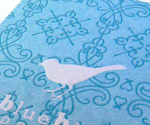 Bluebird Designs LetterPress BusinessCard