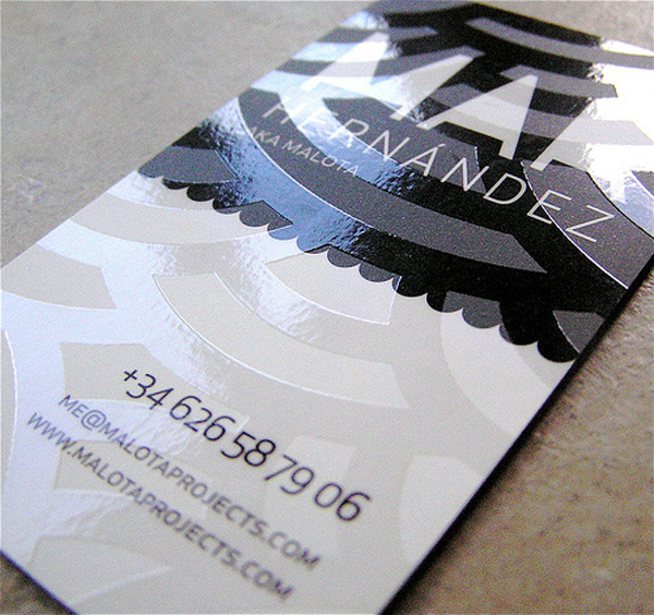 Malota Project's Embossed Business Card