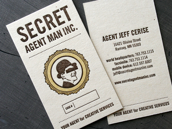 Secret Agent Man's Funny Business Card