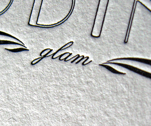 Vintage Wedding Glam's Letterpress Business Card