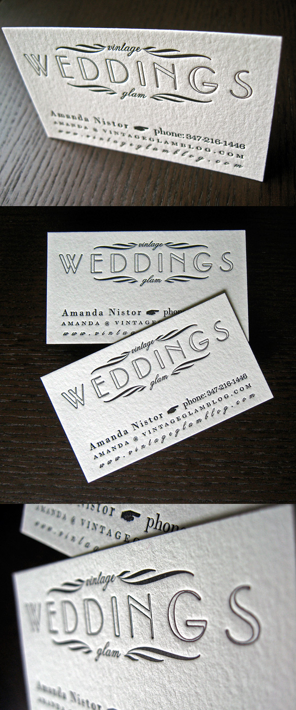Vintage Wedding Glam's Business Card