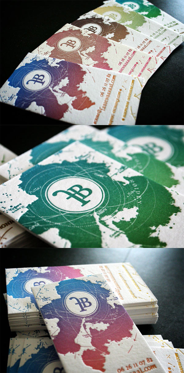 Fabien Barral LetterPress Business Card